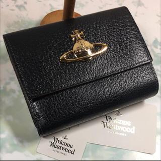 ヴィヴィアンウエストウッド(Vivienne Westwood)の新品☺︎Vivienne Westwood 二つ折り財布 ヴィヴィアン 黒  •(財布)