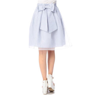 リズリサ(LIZ LISA)のLIZ LISA オーガンジーストライプスカート(ひざ丈スカート)