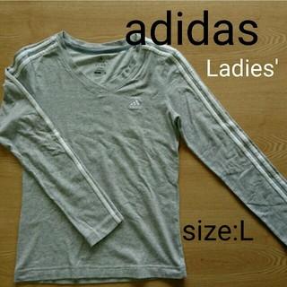 アディダス(adidas)のアディダス ロンT レディース Lサイズ(Tシャツ(長袖/七分))