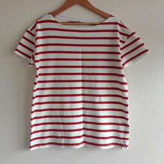 ムジルシリョウヒン(MUJI (無印良品))の無印良品*ボーダーカットソー L(Tシャツ(半袖/袖なし))