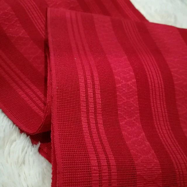 ■博多献上柄・夏紗献上 名古屋 粋な赤 レディースの水着/浴衣(着物)の商品写真