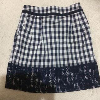 マーキュリーデュオ(MERCURYDUO)のギンガムチェックタイトスカート(ミニスカート)