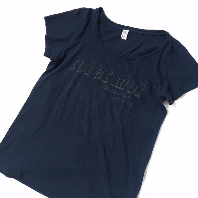 Maison de Reefur(メゾンドリーファー)の【梨花着用♡】メゾンドリーファー ロゴTシャツ 黒 レディースのトップス(Tシャツ(半袖/袖なし))の商品写真