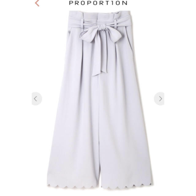 PROPORTION BODY DRESSING(プロポーションボディドレッシング)のパウダリーサテンクレープガウチョ レディースのパンツ(その他)の商品写真