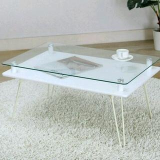 【最終値下げ】ガラステーブル(ローテーブル)