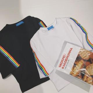 🌈レインボー 原宿 韓国 Tシャツ 半袖 虹色 トップス(Tシャツ(半袖/袖なし))