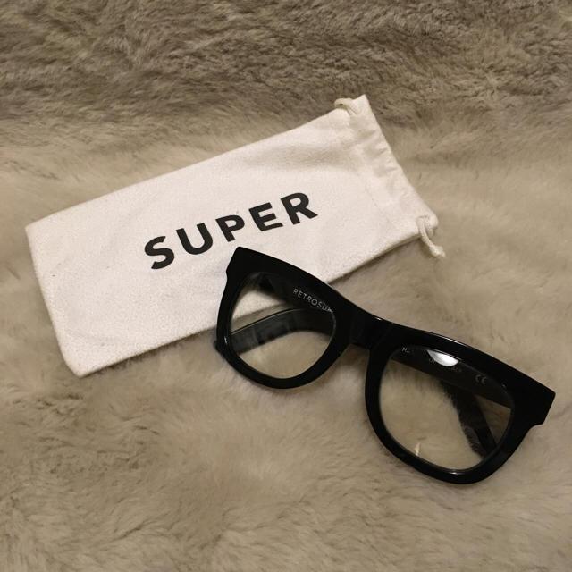 """SUPER(スーパー)の""""SUPER"""" 伊達メガネ RADD LOUNGE レディースのファッション小物(サングラス/メガネ)の商品写真"""