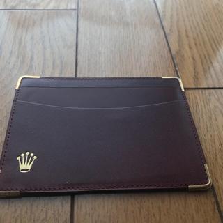 ロレックス(ROLEX)の【まい様専用‼︎】ロレックス パスケース  カードケース  赤 茶 2枚セット(名刺入れ/定期入れ)