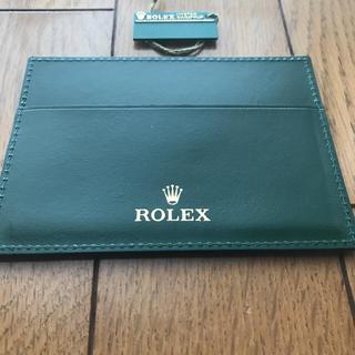 ロレックス(ROLEX)の【高級本革‼︎  】ロレックス カードケース パスケース(名刺入れ/定期入れ)