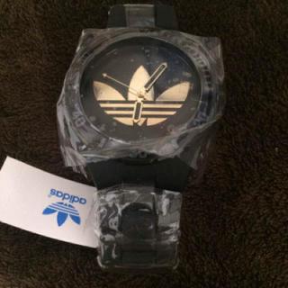 アディダス(adidas)の新品 アディダス 時計 ブラック 金(腕時計(アナログ))