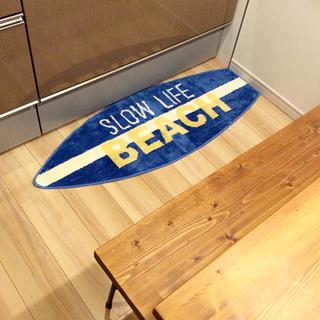 シマムラ(しまむら)の新品☆ 送料無料♪ BEACH サーフボード型 キッチンマット 120 しまむら(キッチンマット)