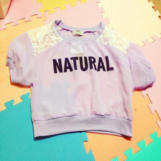 グレイル(GRL)のパープル透けTシャツ(Tシャツ(半袖/袖なし))