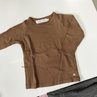 クリスティーナローデ(CHRISTINA ROHDE)の新品同様【ドラッパドット】七分袖シャツ 100(Tシャツ/カットソー)