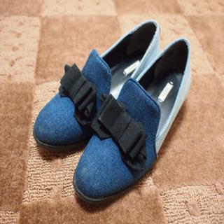 ランダ(RANDA)のRANDA★デニムシューズ(ローファー/革靴)