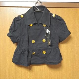 シマムラ(しまむら)のM~新品ショート/Pコート/スエットジャケブラック(カットソー(半袖/袖なし))