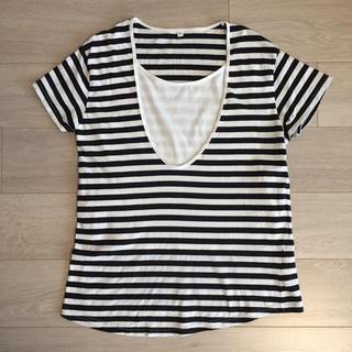 ムジルシリョウヒン(MUJI (無印良品))の無印良品 オーガニックコットン 授乳用Tシャツ M-Lサイズ(マタニティウェア)