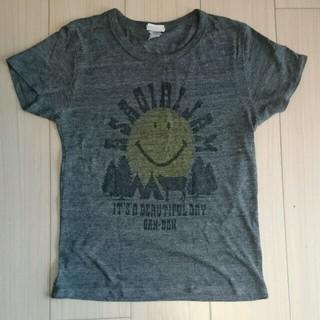 レディース半袖Tシャツ XS グレー スマイル(Tシャツ(半袖/袖なし))