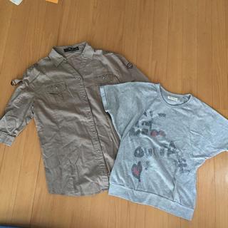 シマムラ(しまむら)の130センチ♡ガールズ2点セット(Tシャツ/カットソー)