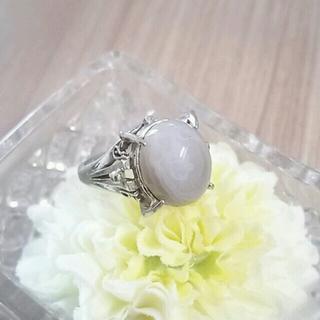 ヴィンテージ★グレーのカボションリング指輪(リング(指輪))