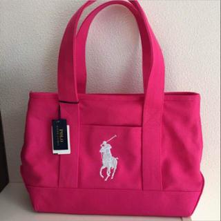 シマムラ(しまむら)のしまむら ラルフローレン バッグ 新品未使用 ピンク(トートバッグ)