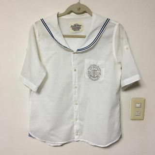 ダブルネーム(DOUBLE NAME)のダブルネーム☆セーラーカラー半袖ブラウス(シャツ/ブラウス(半袖/袖なし))