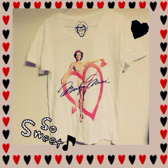 HALFMAN(ハーフマン)のHALFMAN♡マリリンTシャツ レディースのトップス(Tシャツ(半袖/袖なし))の商品写真