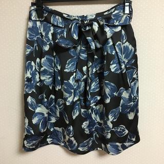 ノーブル(Noble)の花柄 スカート ノーブル(ひざ丈スカート)