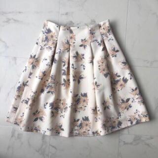 マーキュリーデュオ(MERCURYDUO)の花柄スカート(ミニスカート)