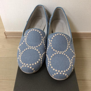 ミナペルホネン(mina perhonen)のミナペルホネン タンバリン 靴 (スリッポン/モカシン)