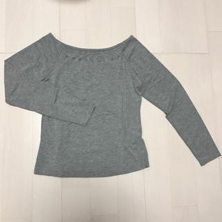 ジーユー(GU)のロンT グレー(Tシャツ(長袖/七分))