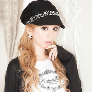 エミリアウィズ(EmiriaWiz)のビジュキャスケット帽(帽子)