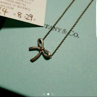 ティファニー(Tiffany & Co.)のTiffany & Co. リボンネックレス(ネックレス)