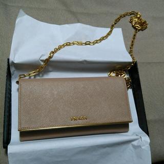 PRADA(プラダ)のプラダ ショルダー財布兼バック 一回使用 レディースのファッション小物(財布)の商品写真