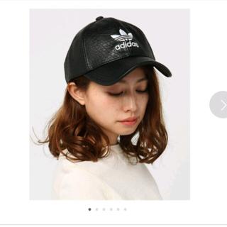 アディダス(adidas)のアディダスキャップ 黒(キャップ)