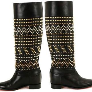 クリスチャンルブタン(Christian Louboutin)の新品 定価27万 クリスチャンルブタン スタッズ ロングブーツ(ブーツ)