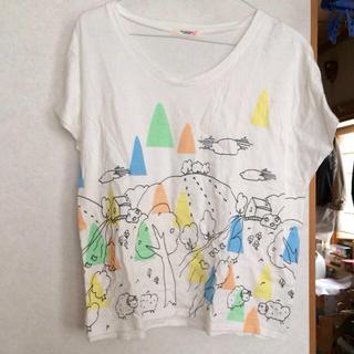 プードゥドゥ(POU DOU DOU)のPOUDOUDOU Tシャツ 白(Tシャツ(半袖/袖なし))