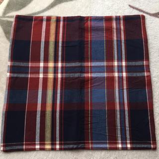 ムジルシリョウヒン(MUJI (無印良品))の無印良品 クッションカバー チェック 紺系(クッションカバー)