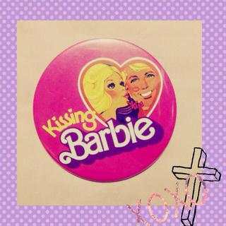 バービー(Barbie)のBarbie 缶バッジ☆(ブローチ/コサージュ)