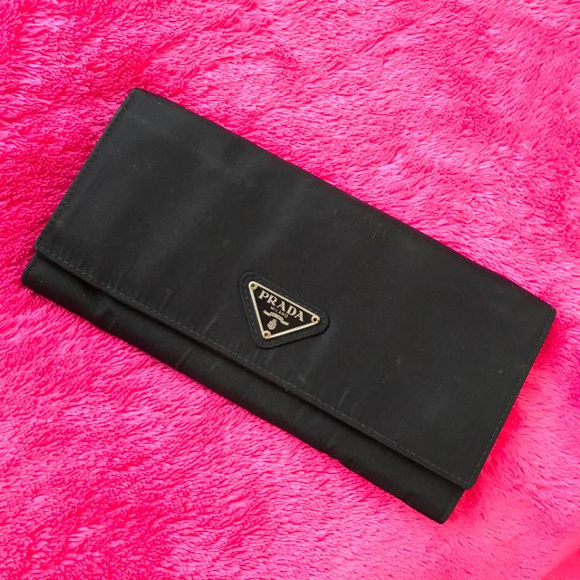 PRADA(プラダ)の♡PRADA♡プラダ♡ナイロン×サフィアーノ♡長財布♡黒♡ レディースのファッション小物(財布)の商品写真