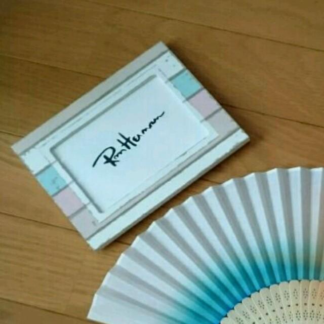 ブルーグラデーション★布扇子 ロンハーマン好きに ハンドメイドのファッション小物(その他)の商品写真