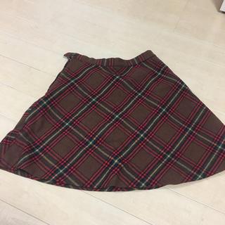 膝丈 チェック スカート(ひざ丈スカート)
