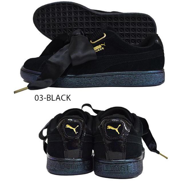 PUMA(プーマ)のpuma プーマ スウェードハート ブラック 23cm レディースの靴/シューズ(スニーカー)の商品写真