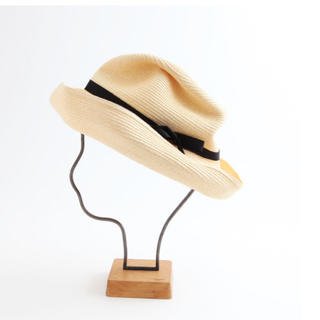 マーガレットハウエル(MARGARET HOWELL)の*mature ha. BOXED HAT 101 natural×black*(ハット)
