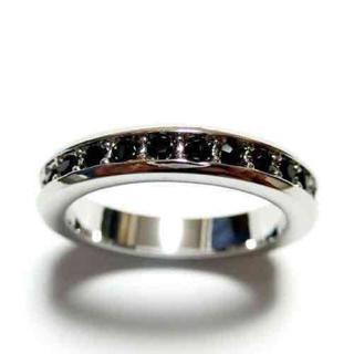 5号 スワロフスキー フルエタニティ ジェット シルバーリング(リング(指輪))