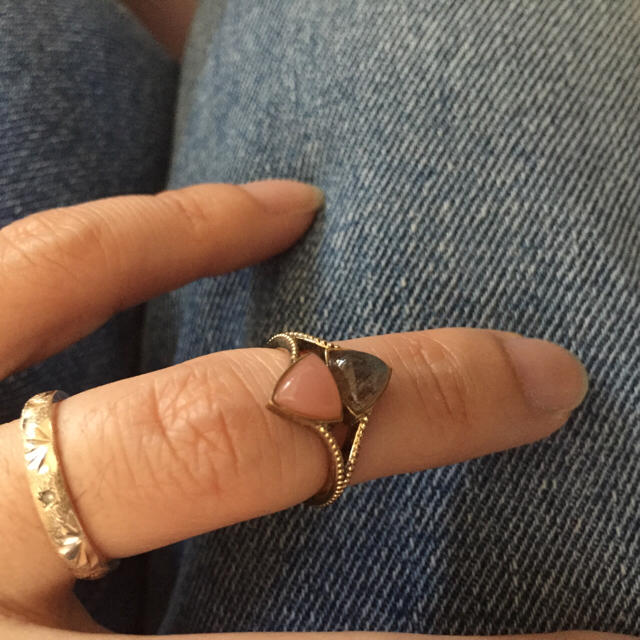 agete(アガット)のアガット☆ファランジリング美品 レディースのアクセサリー(リング(指輪))の商品写真