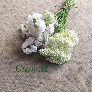 ホワイト系&ナチュラル花材詰め合わせの2点セット・スワッグ*送料無料  商品76(ドライフラワー)
