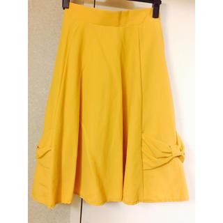 シマムラ(しまむら)のしまむら 裾リボンカラースカート(ひざ丈スカート)