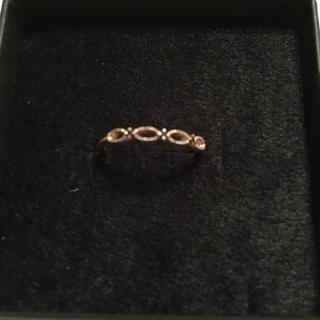 エテ(ete)のete 10k レイヤード ブラックダイヤモンド リング(リング(指輪))