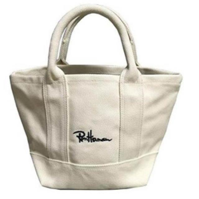 Ron Herman(ロンハーマン)のネームタグあり ロンハーマン Ron Herman 厚手トートバック ホワイト レディースのバッグ(トートバッグ)の商品写真