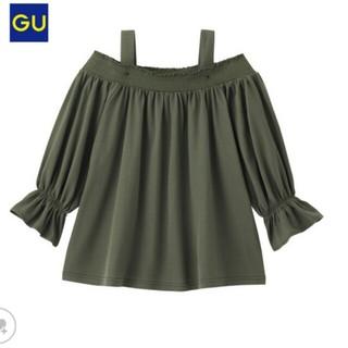 ジーユー(GU)のなみなみ様専用 新品タグ付❤オフショルダーT(Tシャツ(長袖/七分))